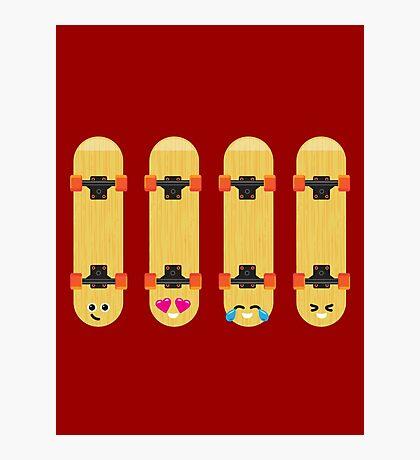 Emoji Building - Skateboards Photographic Print