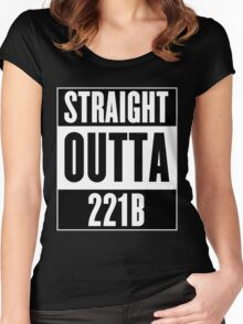 Sherlock Holmes Straight Outta 221B Women's Fitted Scoop T-Shirt