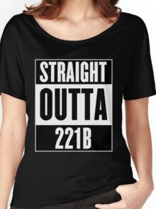 Sherlock Holmes Straight Outta 221B Women's Relaxed Fit T-Shirt