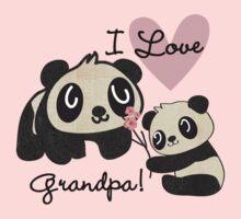 Panda Bears I Love Grandpa Kids Tee