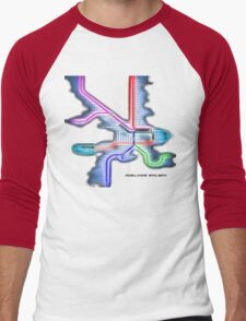 Adelaide Rail System Men's Baseball ¾ T-Shirt