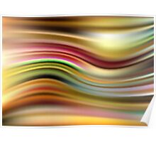 Abstract modern wavy background Poster