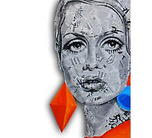 Newspaper Ink Design Twiggy Photographic Print