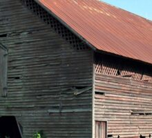 """""""A Simple and Old Timey Barn""""... prints and products Sticker"""