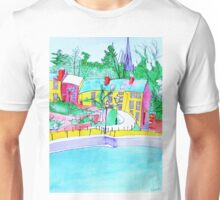 Colourful Painting of Exeter Quay Unisex T-Shirt