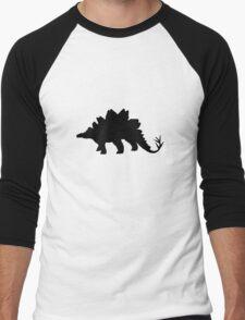 Dinosaur black Men's Baseball ¾ T-Shirt