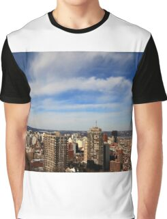 Downtown Hamilton, Ontario, Canada after snow strom. Graphic T-Shirt