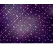 Modern texture. Abstract background with beads. Graphic linear waves Photographic Print
