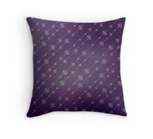 Modern texture. Abstract background with beads. Graphic linear waves Throw Pillow