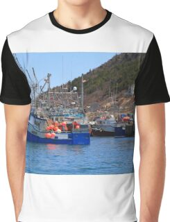 Fishing boats are moored in harbor ready for long weekend Graphic T-Shirt