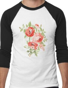 Y'all Ain't Right - Floral Typography Men's Baseball ¾ T-Shirt