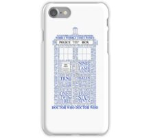 Doctor Who Typography Tardis iPhone Case/Skin