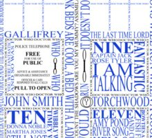 Doctor Who Typography Tardis Sticker
