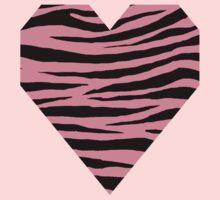 0543 Pink Sherbet Tiger Kids Tee