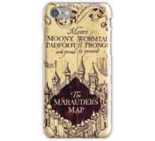 The Marauders Map iPhone Case/Skin