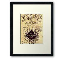 The Marauders Map Framed Print