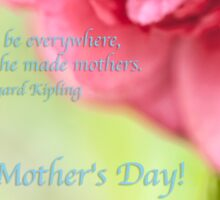 Mothers Day Pink Quote Sticker