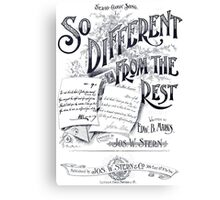 So Different From The Rest Canvas Print