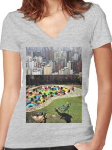 City Pool Women's Fitted V-Neck T-Shirt