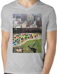 City Pool Mens V-Neck T-Shirt