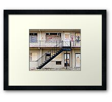 Abandoned motel 1 Framed Print