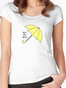 How I Met Your Mother- Yellow Umbrella Women's Fitted Scoop T-Shirt