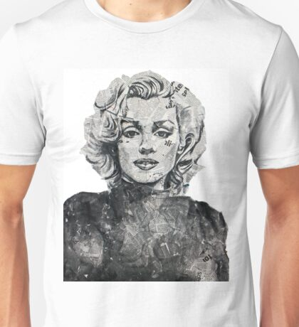 Newspaper Print of Marilyn Monroe Unisex T-Shirt