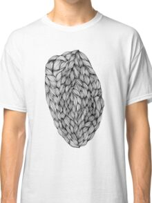 Black and White Line Oval Classic T-Shirt