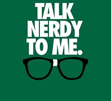 TALK NERDY TO ME. - Alternate Womens Fitted T-Shirt