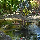 Garden Fountain by Imagery