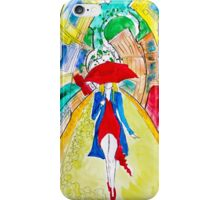 Abstract Woman in Red iPhone Case/Skin