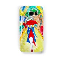 Abstract Woman in Red Samsung Galaxy Case/Skin