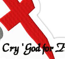 """Henry V 'Cry God!"""" Sticker"""