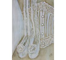 White corset Photographic Print