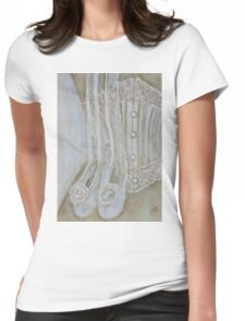 White corset Womens Fitted T-Shirt