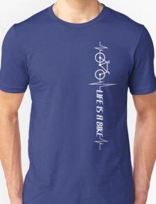 Life is a Bike - white logo - vertical Unisex T-Shirt