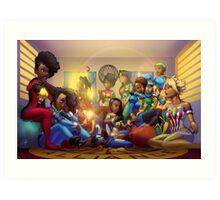 Caribbean Justice Ladies Lounge Art Print