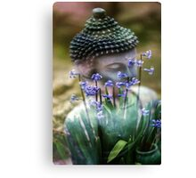 Buddha with Flower Asia Blooms Canvas Print