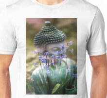 Buddha with Flower Asia Blooms Unisex T-Shirt