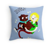 Shaggy Finn And Jake Dog Throw Pillow