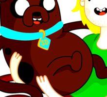 Shaggy Finn And Jake Dog Sticker