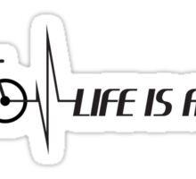 Life is a Bike - black logo Sticker