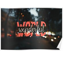 Wonderful world. Vintage design Poster
