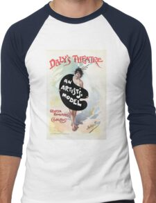 An Artist's model, Julius Price, Daly's Theatre London advert Men's Baseball ¾ T-Shirt