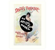 An Artist's model, Julius Price, Daly's Theatre London advert Art Print
