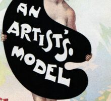 An Artist's model, Julius Price, Daly's Theatre London advert Sticker