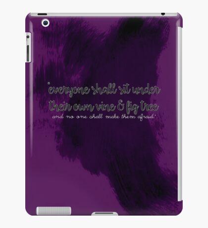 """And no one shall make them afraid..."" - Reverse iPad Case/Skin"