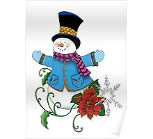 Top Hat Snowman Poster
