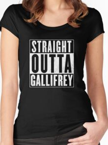 Doctor Who - Straight outta Gallifrey Women's Fitted Scoop T-Shirt