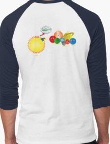 Happy Planets  Men's Baseball ¾ T-Shirt